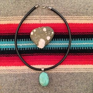 Silpada Turquoise and Leather Cord Necklace